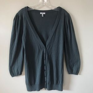 JOIE 3/4 Sleeve Button Down Cardigan Silk Cashmere